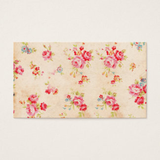 Vintage Shabby Chic Girly Pink Blue Roses Floral