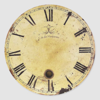 Vintage Shabby Chic Wall Clock Round Sticker