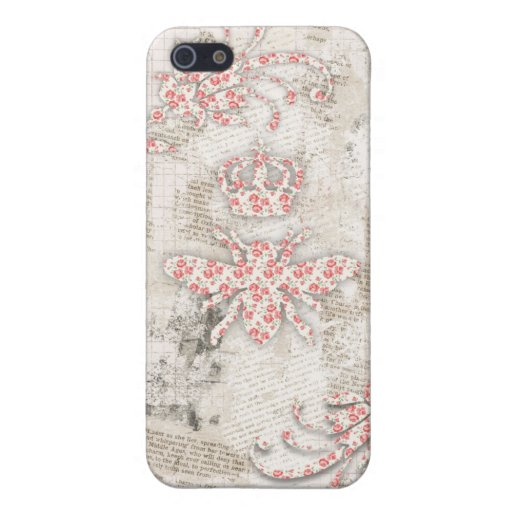 Vintage Shabby Queen Bee Case Case For iPhone 5