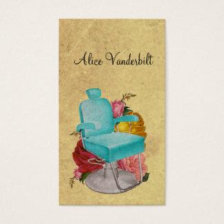 Vintage Shabby Roses Salon Chair Hairstylist Card