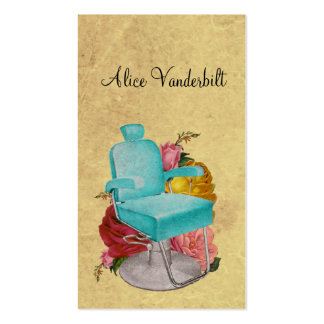 Vintage Shabby Roses Salon Chair Hairstylist Card Pack Of Standard Business Cards