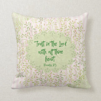 Vintage Shabby with Proverbs Bible Verse Cushion