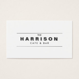 VINTAGE SHADOW TYPE LOGO Business Card