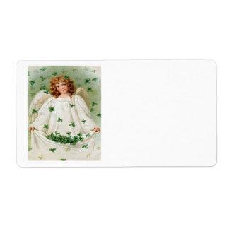 Vintage Shamrock Angel St Patrick's Day Card
