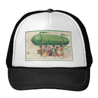 Vintage Shamrock Float St Patrick s Day Card Hat