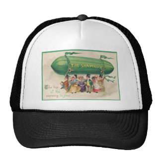 Vintage Shamrock Float St Patrick's Day Card Cap