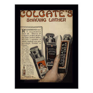 Vintage Shaving Lather Poster