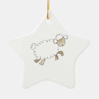 Vintage Sheep by Serena Bowman funny farm animals Ceramic Star Decoration