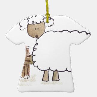 Vintage Sheep by Serena Bowman funny farm animals Ornament