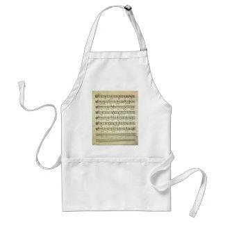 Vintage Sheet Music, Antique Musical Score 1810 Aprons