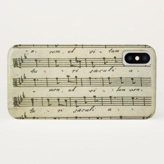 Vintage Sheet Music, Antique Musical Score 1810 iPhone X Case