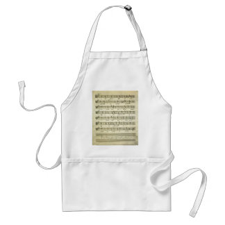 Vintage Sheet Music, Antique Musical Score 1810 Standard Apron