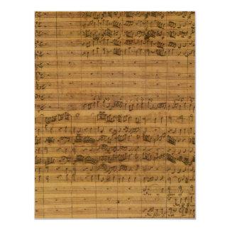 Vintage Sheet Music by Johann Sebastian Bach 11 Cm X 14 Cm Invitation Card