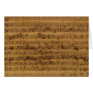 Vintage Sheet Music by Johann Sebastian Bach Card