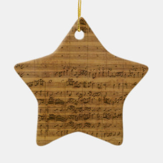 Vintage Sheet Music by Johann Sebastian Bach Christmas Ornament