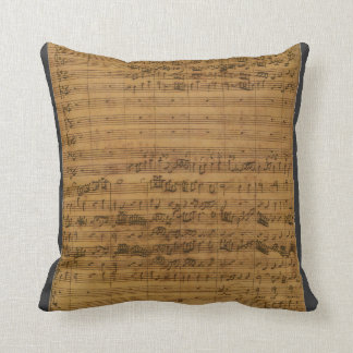 Vintage Sheet Music by Johann Sebastian Bach Cushion