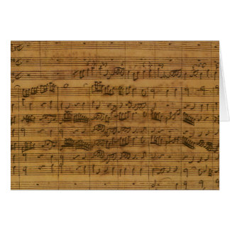 Vintage Sheet Music by Johann Sebastian Bach Greeting Card