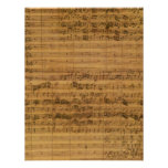 Vintage Sheet Music by Johann Sebastian Bach Invite