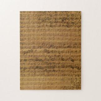 Vintage Sheet Music by Johann Sebastian Bach Jigsaw Puzzle
