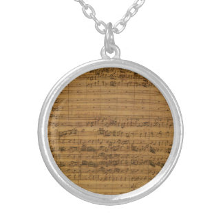 Vintage Sheet Music by Johann Sebastian Bach Personalized Necklace