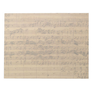 Vintage Sheet Music by Johann Sebastian Bach Notepad