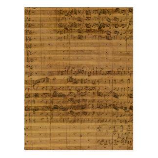 Vintage Sheet Music by Johann Sebastian Bach Postcard
