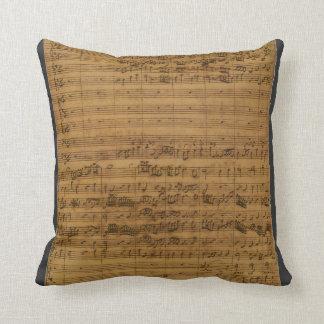 Vintage Sheet Music by Johann Sebastian Bach Throw Pillow