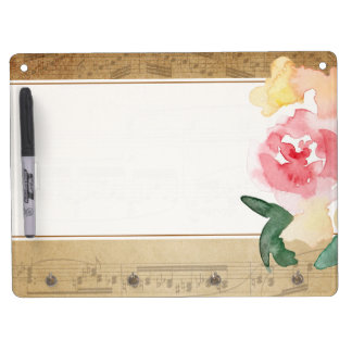 Vintage Sheet Music Dry Erase Board