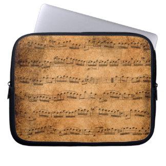 Vintage sheet music laptop sleeves