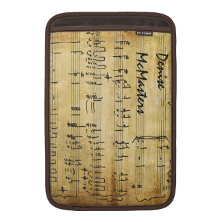 Vintage Sheet Music - Personalized with Name MacBook Air Sleeves