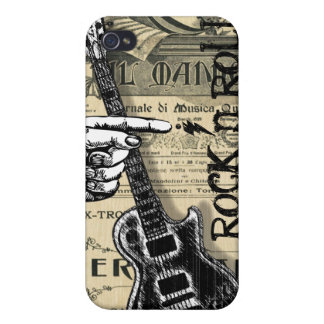 Vintage Sheet Music Rock N Roll iPhone 4/4S Cases