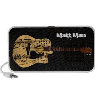 Vintage Sheet Music Rock N Roll Laptop Speaker