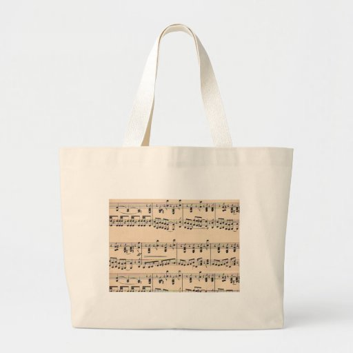 Vintage Sheet Music Score Black and White notes Canvas Bag