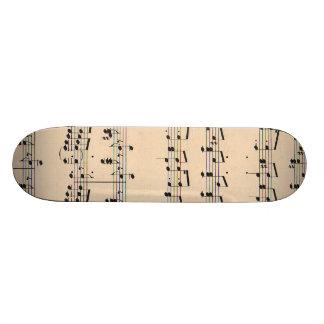 Vintage Sheet Music Score Black and White notes Custom Skateboard