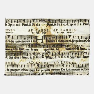 Vintage Sheet Music Tea Towel