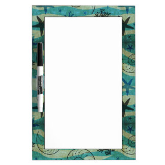 Vintage Shells And Starfish Pattern Dry-Erase Whiteboards