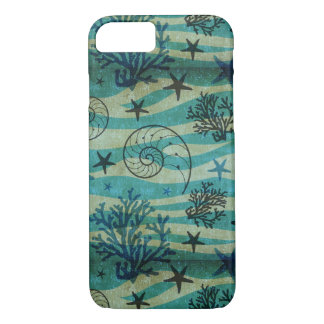 Vintage Shells And Starfish Pattern iPhone 8/7 Case