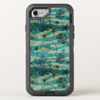Vintage Shells And Starfish Pattern OtterBox Defender iPhone 8/7 Case