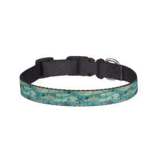 Vintage Shells And Starfish Pattern Pet Collar