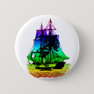 Vintage Ship 6 Cm Round Badge