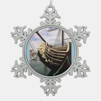 Vintage Ship - Alicante Snowflake Pewter Christmas Ornament