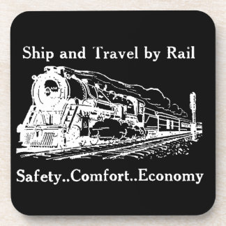 Vintage Ship and Travel By Rail Coaster