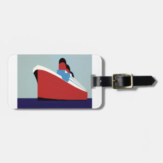 Vintage Ship Luggage Tag