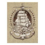 Vintage Ship Poster
