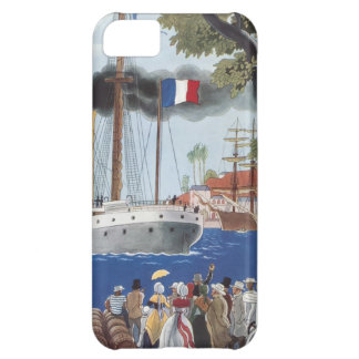 Vintage Ship Sail Cargo French Port Harbor Brandy Case For iPhone 5C