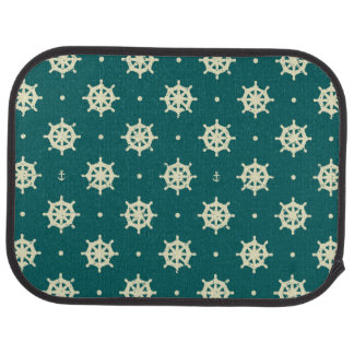 Vintage Ship Wheel Pattern Car Mat
