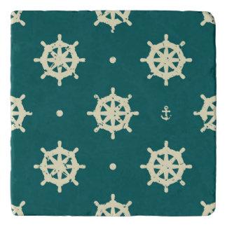 Vintage Ship Wheel Pattern Trivet