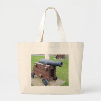 Vintage Ship's Cannon Tote Bags