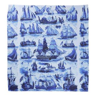 VINTAGE SHIPS,SAILING VESSELS,Navy Blue Bandana