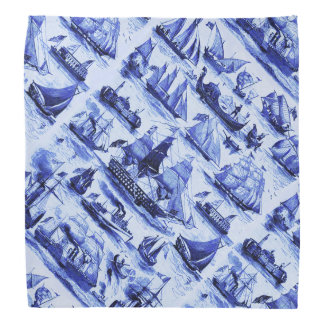 VINTAGE SHIPS,SAILING VESSELS,Navy Blue Kerchief